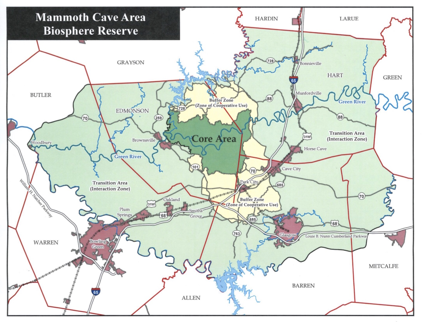 Mammoth Cave Area Biosphere Reserve on i 65 kentucky map, mammoth trail map, smiths grove ky map, wind cave national park map, loretto ky map, kentucky caves map, mammoth az map, indiana caves map, adolphus ky map, mammoth on a map, ledbetter ky map, mannsville ky map, cave city map, mammoth campground, streets of covington ky map, mayking ky map, cave run lake ky map, blank ky map, mcveigh ky map, rowan county ky map,